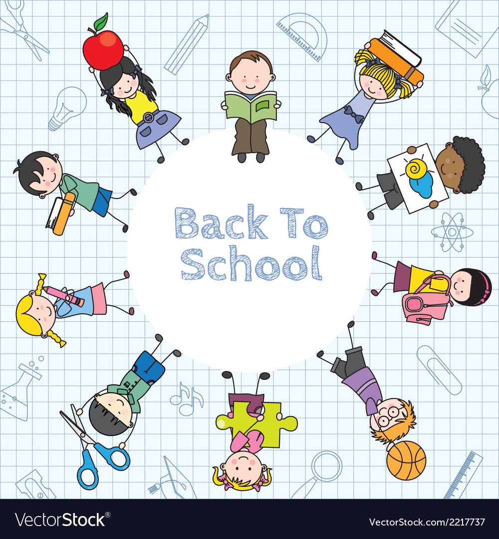 Card back to school vector