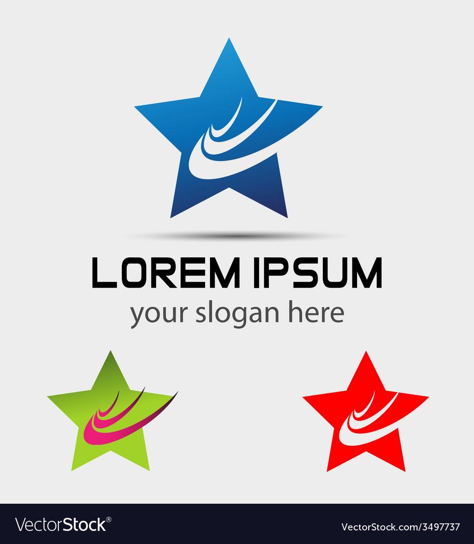 Square logo template design vector