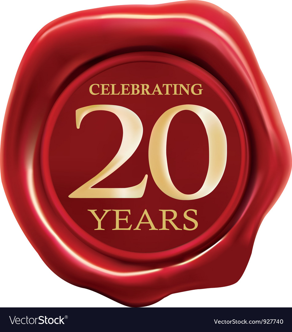 Celebrating 20 years vector
