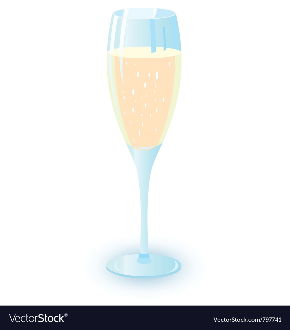 Champagne alcohol cocktail vector