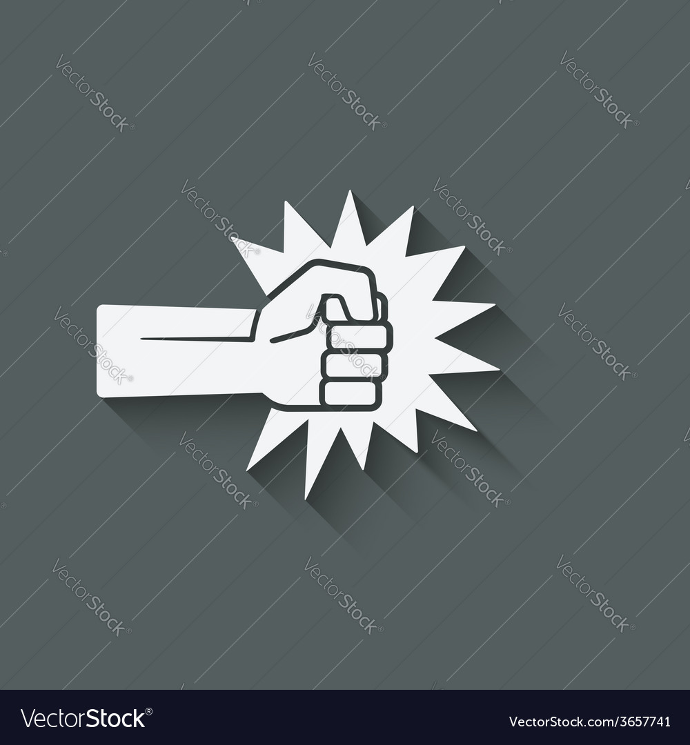 Fist punch symbol vector