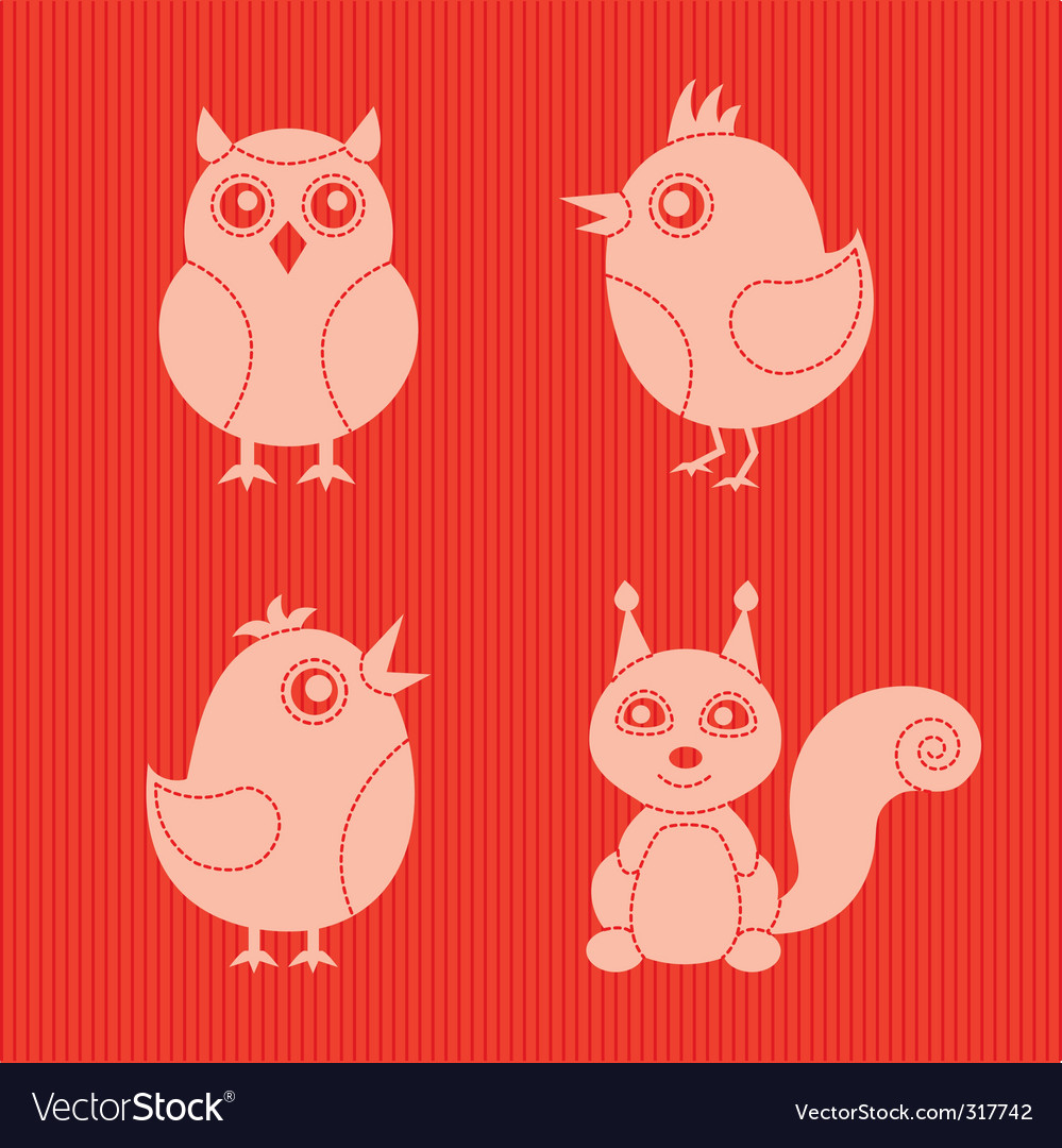 Stylish animals vector