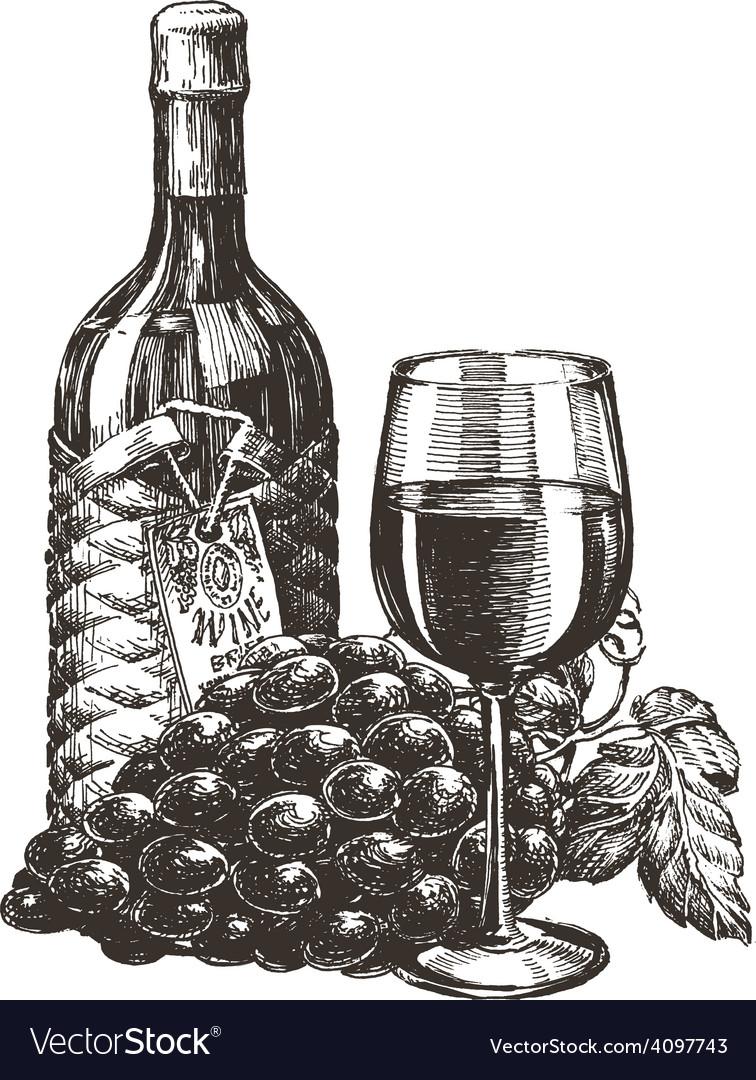 Wine logo design template grape or alcohol vector