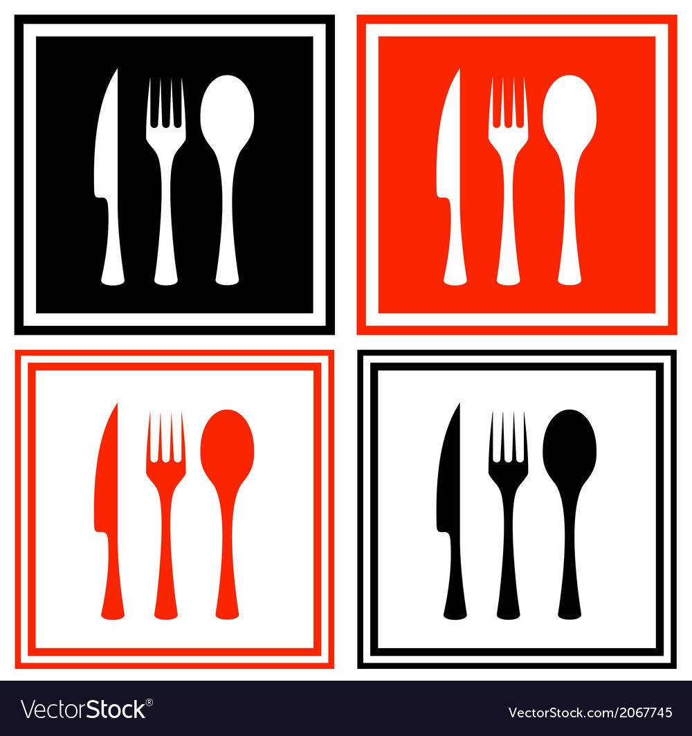 Set icons with kitchen ware vector