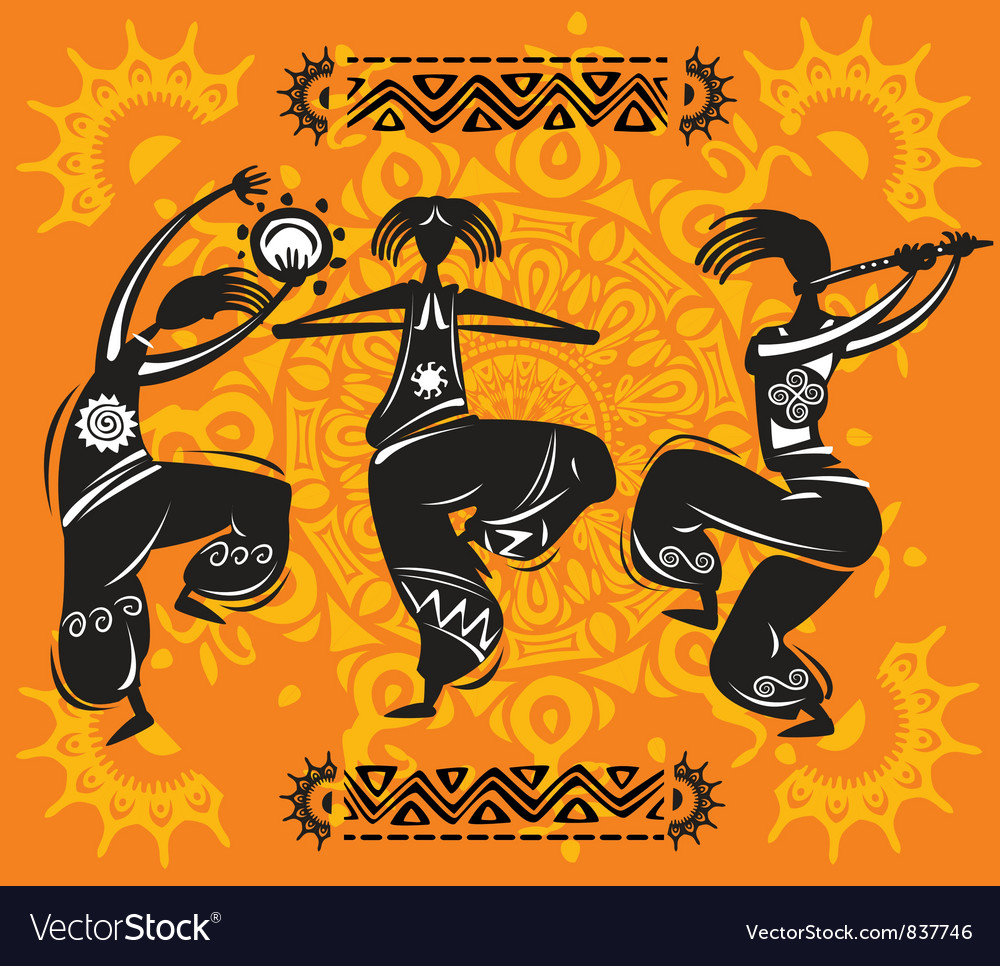 Dancing figures vector