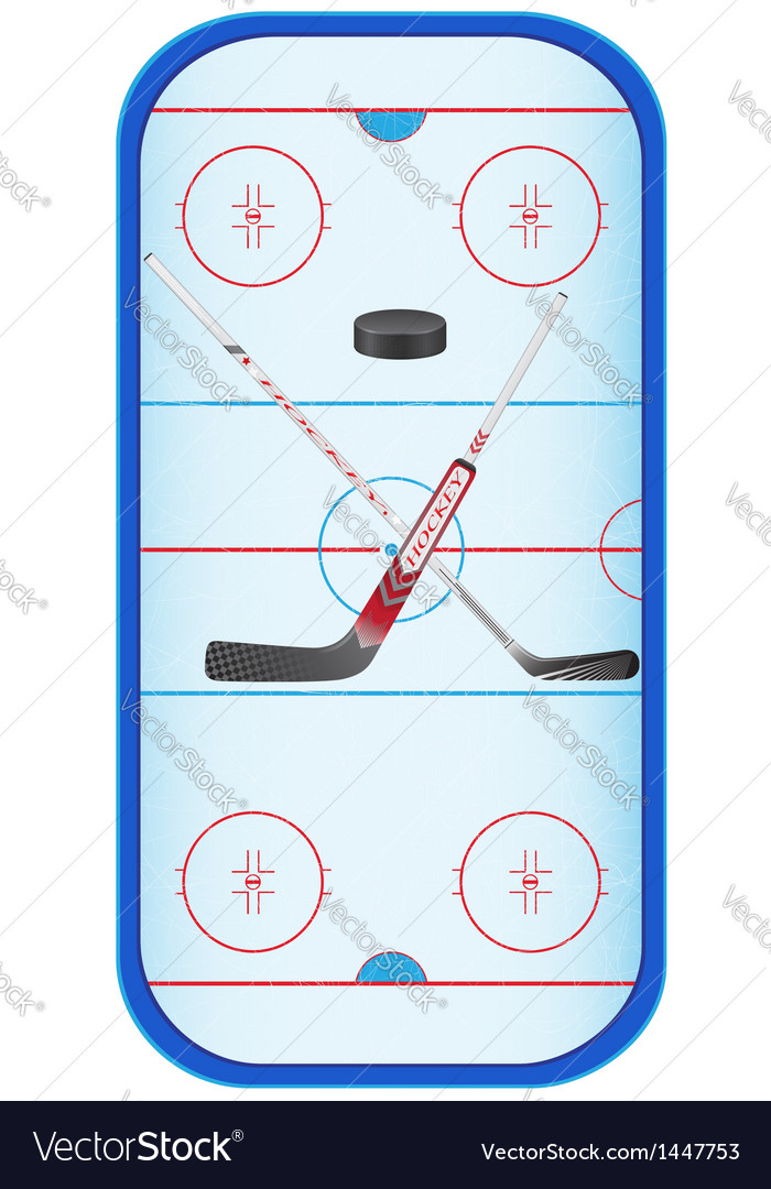 Hockey stadium vector
