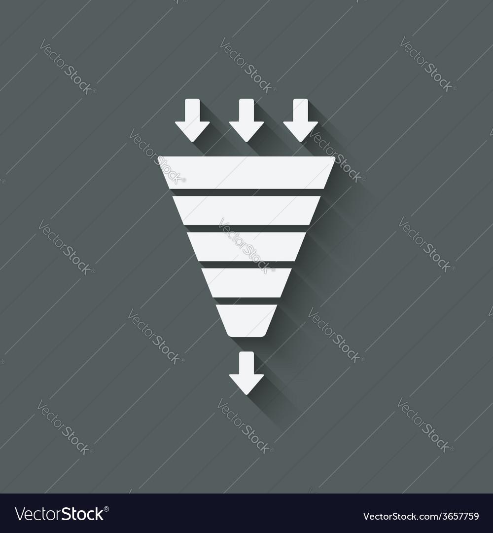 Marketing funnel symbol vector
