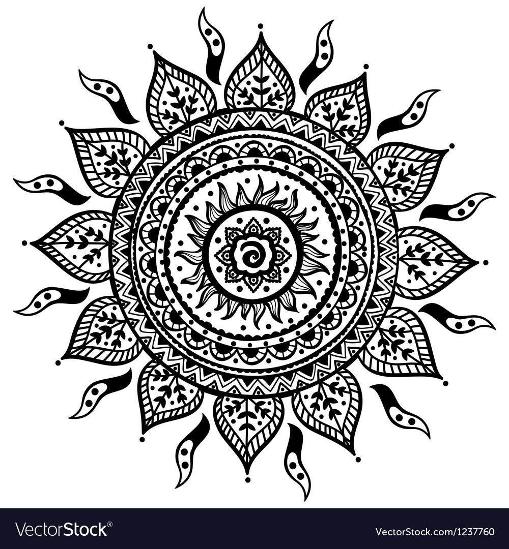 Beautiful indian ornament vector