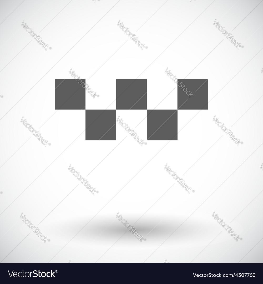 Taxi single icon vector