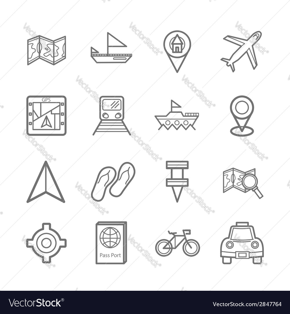 Map signal icons eps10 vector