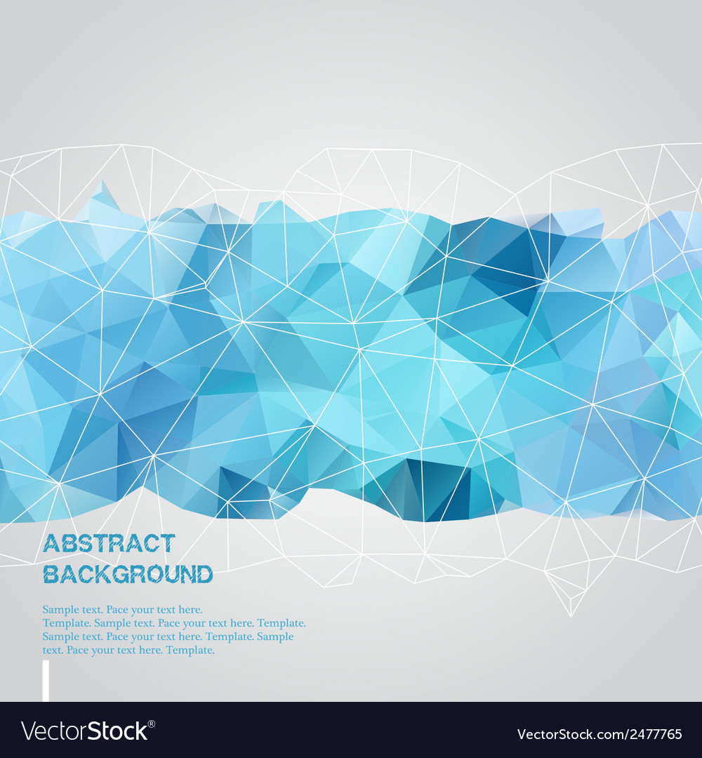 Abstract background with blue triangles template vector
