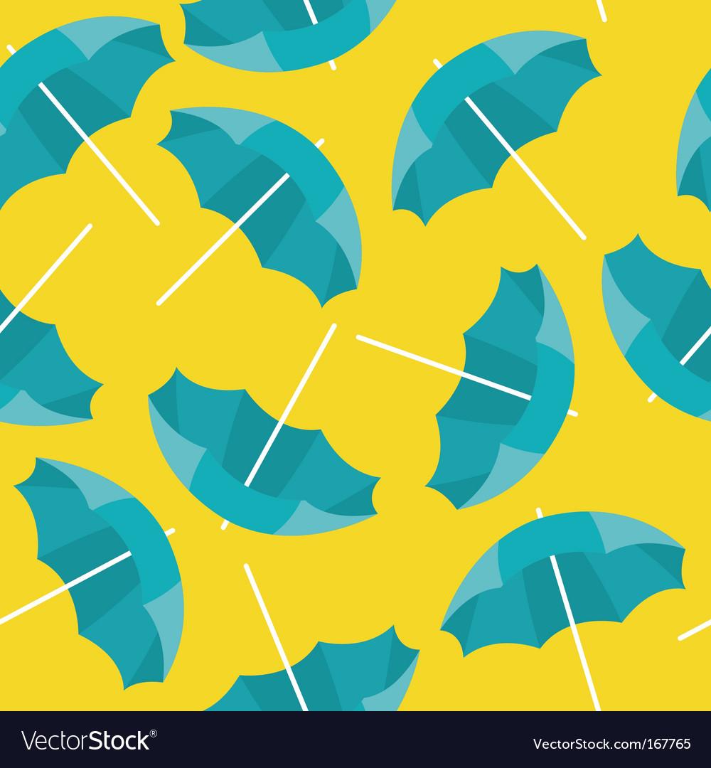 Beach umbrella background vector