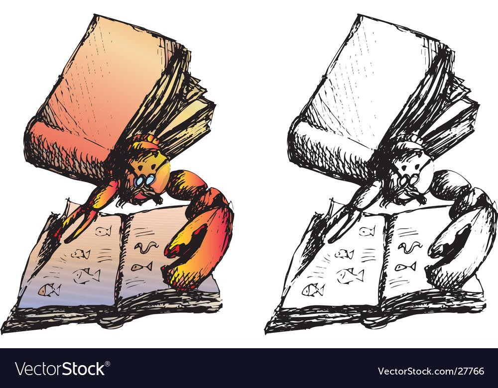 Lobster reading vector