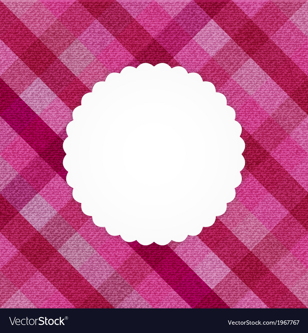 Pink stripped jeans card vector