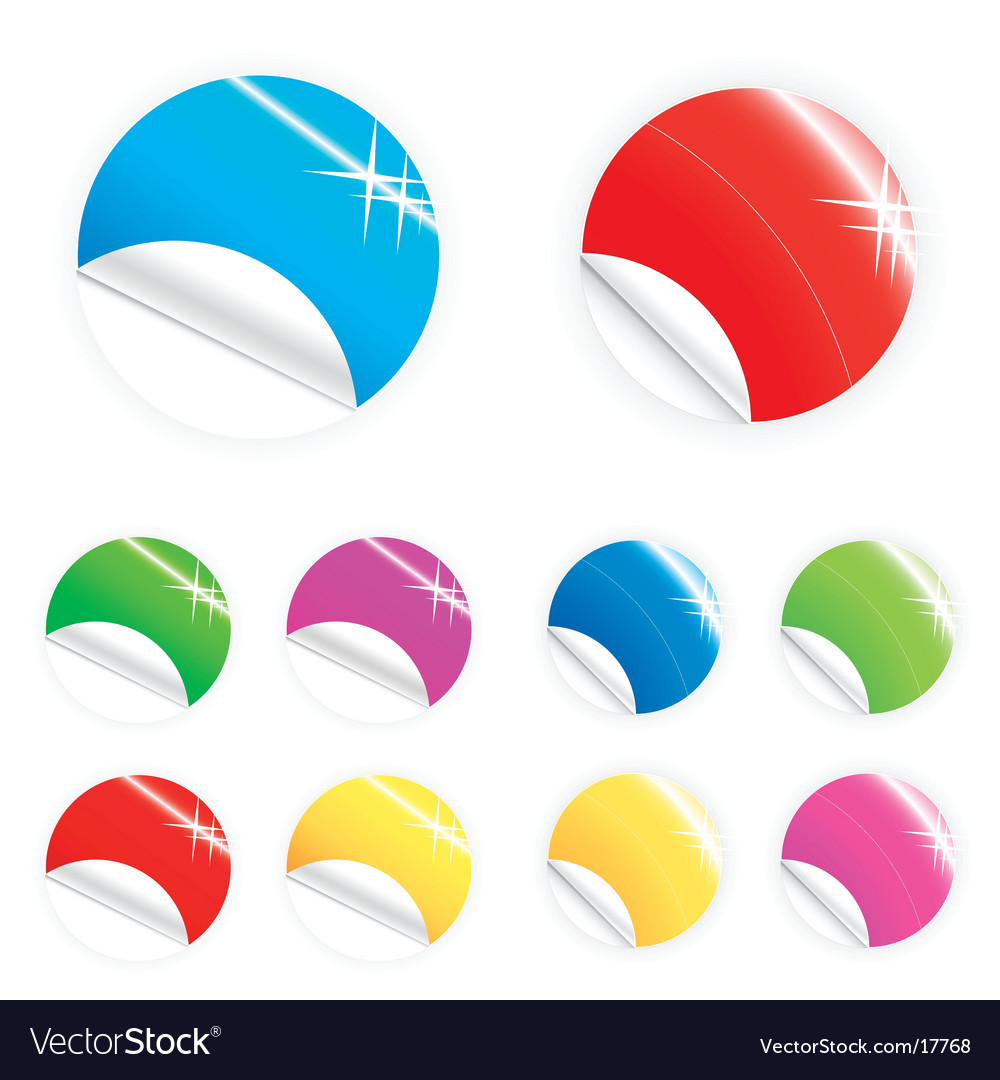 Glossy and shiny retail buttons vector