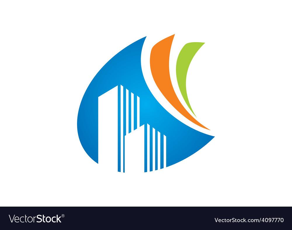 Modern building abstract logo vector