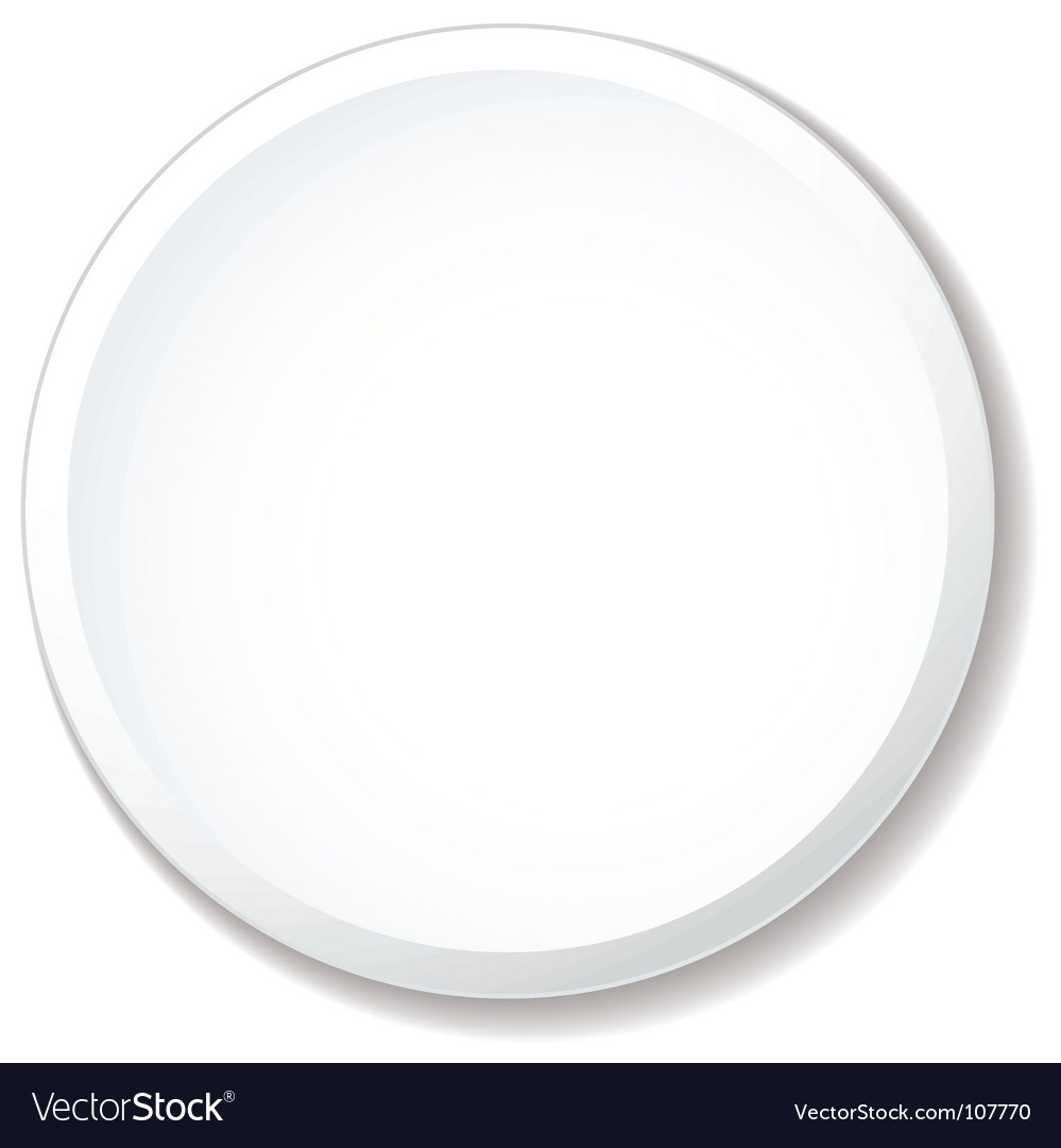 White plate flat vector