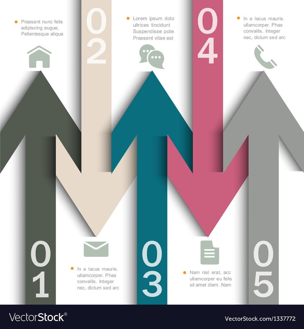 Modern banner arrow design for infographics vector