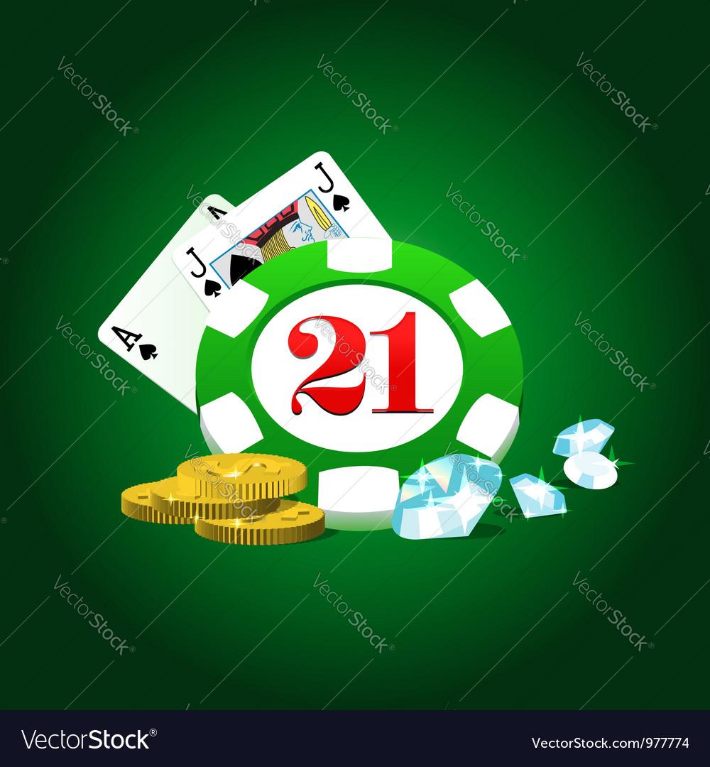 Gambling set vector