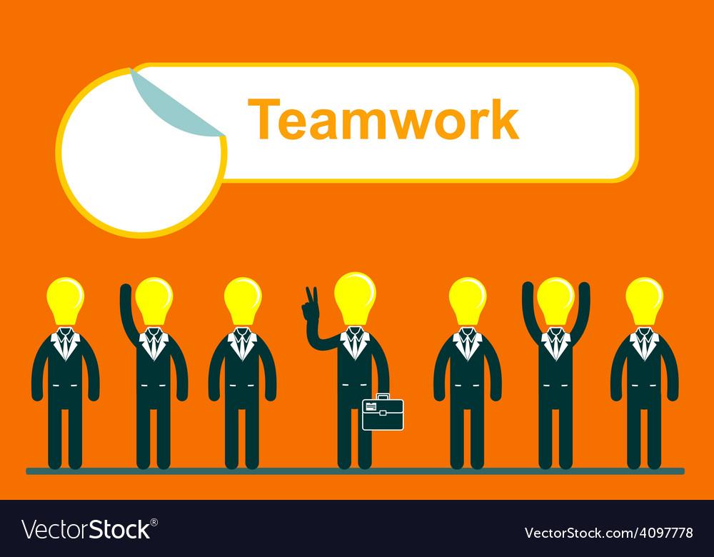 Teamwork web of business people vector
