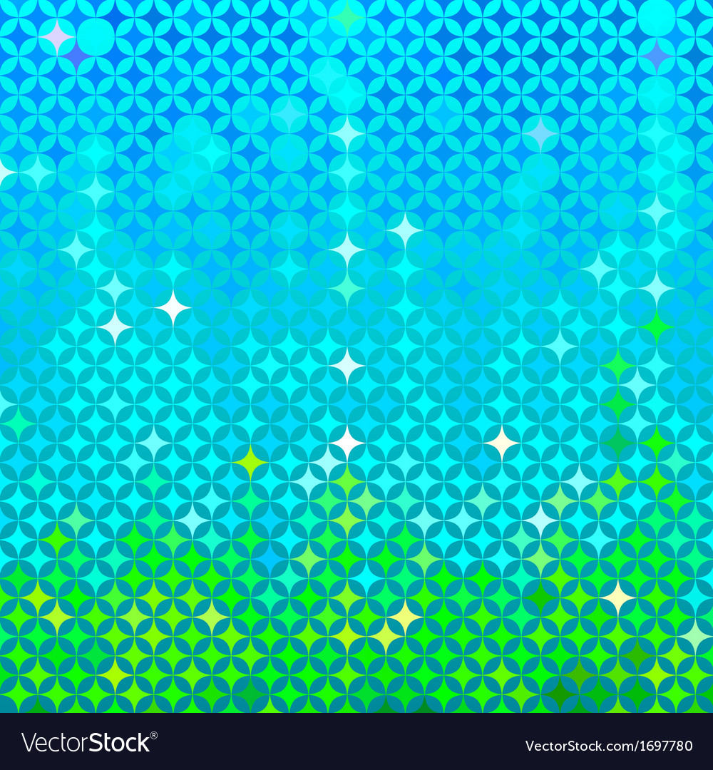 Abstract spring mosaic vector