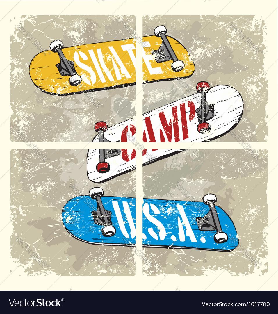Skate camp usa vector