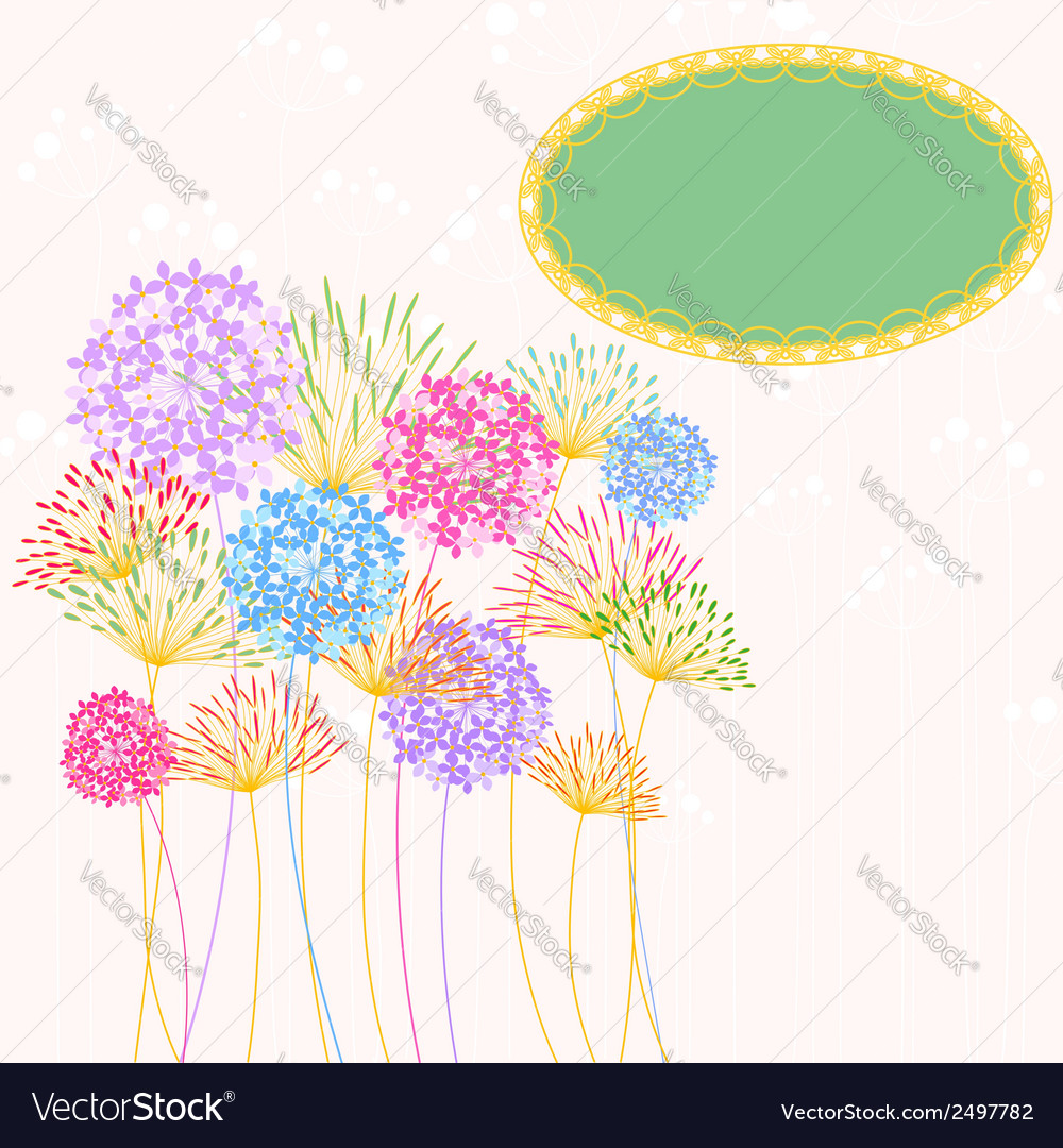 Colorful hydrangea flower garden party vector