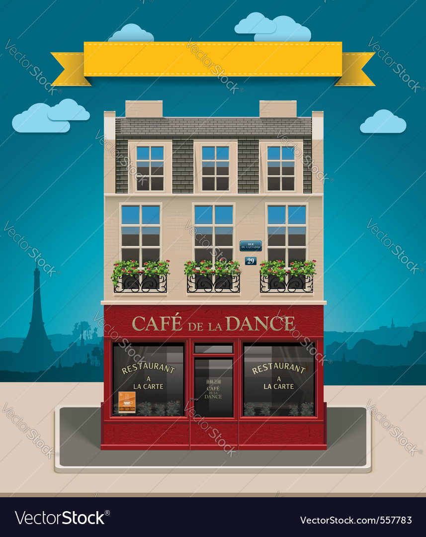 European cafe vector