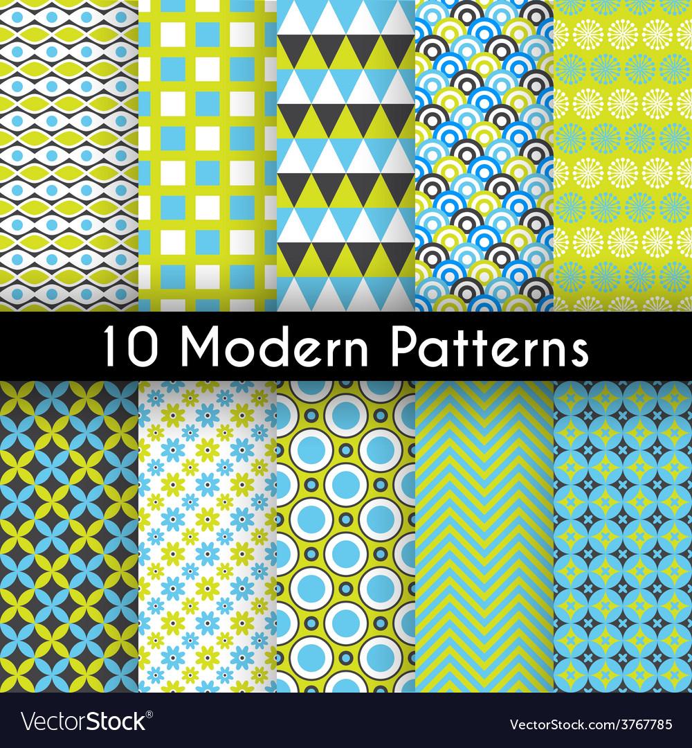 Different modern seamless patterns vector