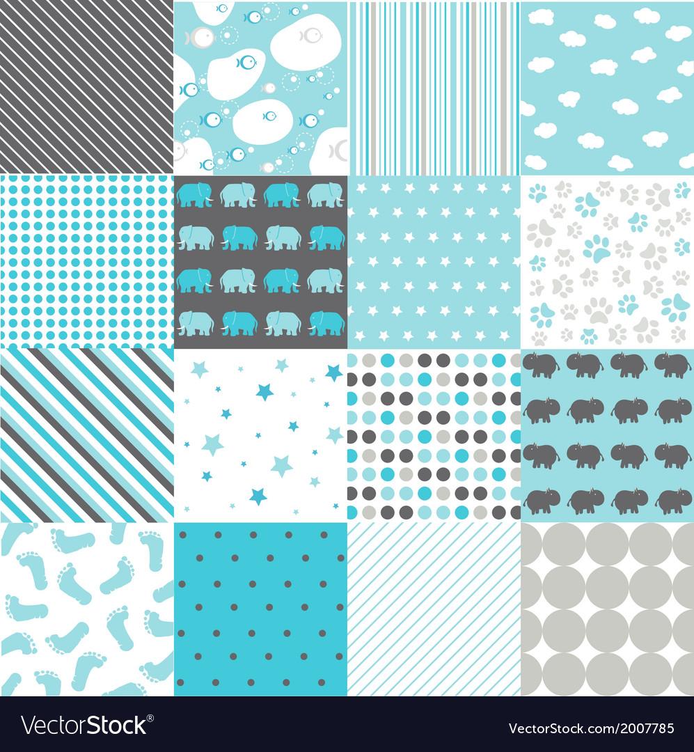 Seamless patterns - digital scrapbook vector