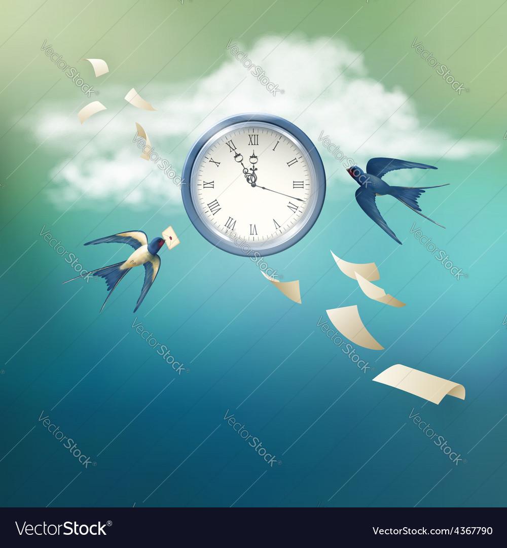 Time abstract concept design vector