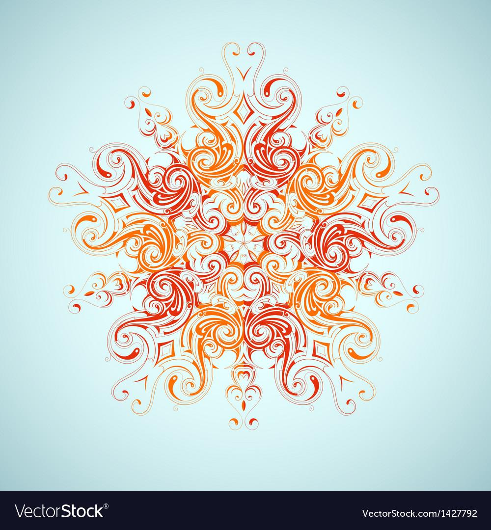 Tribal sun design vector