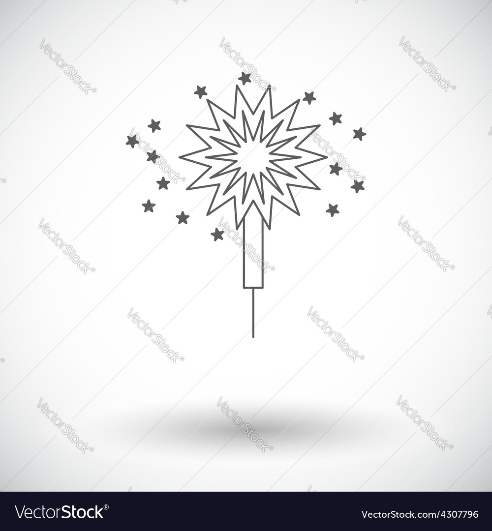 Sparkler vector