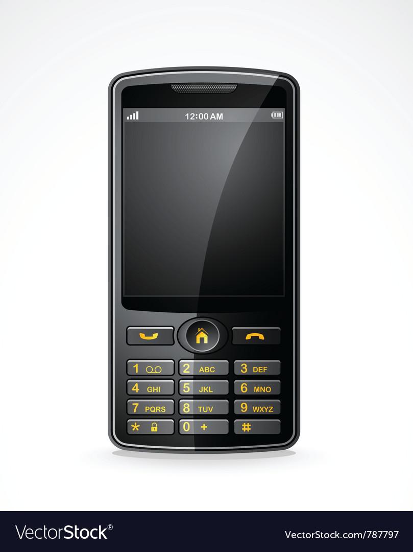 Mobile telephone vector