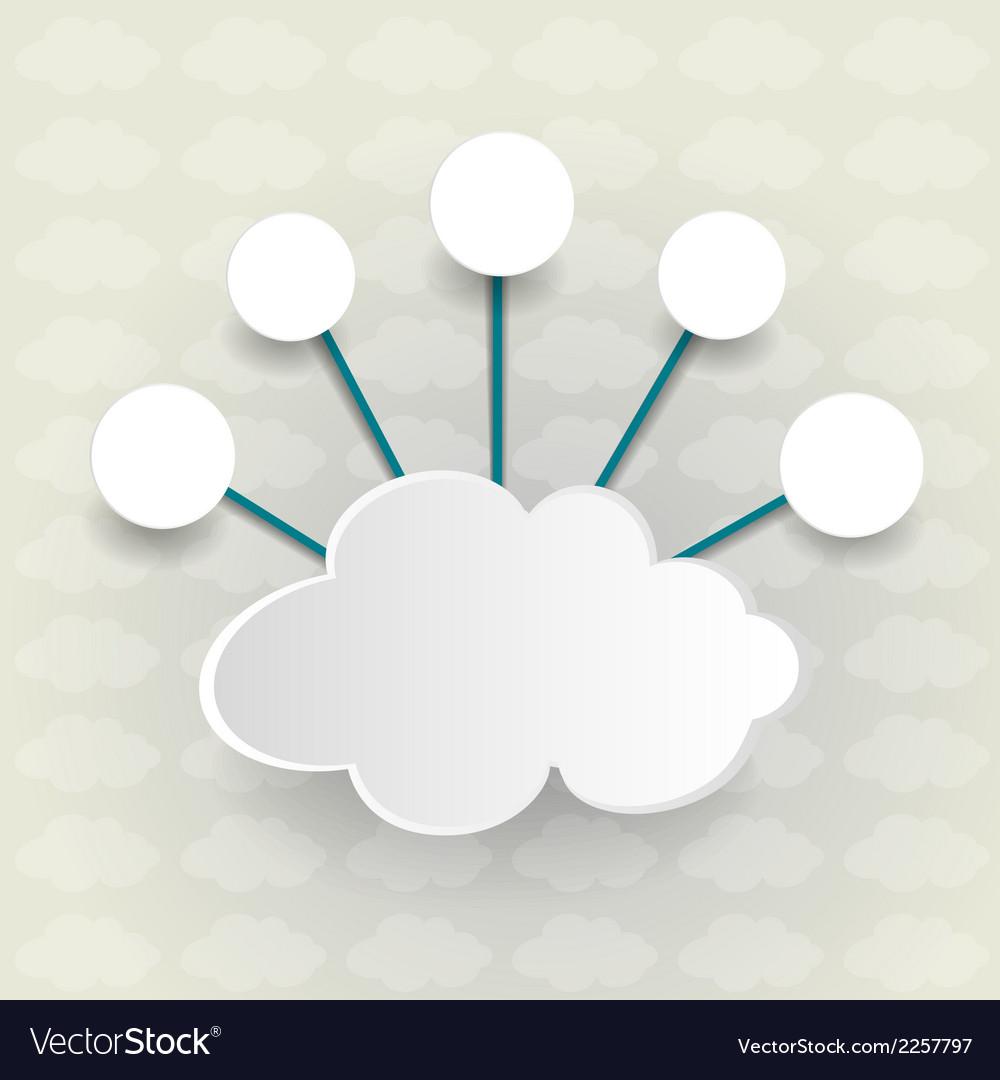 Paper cloud computing vector