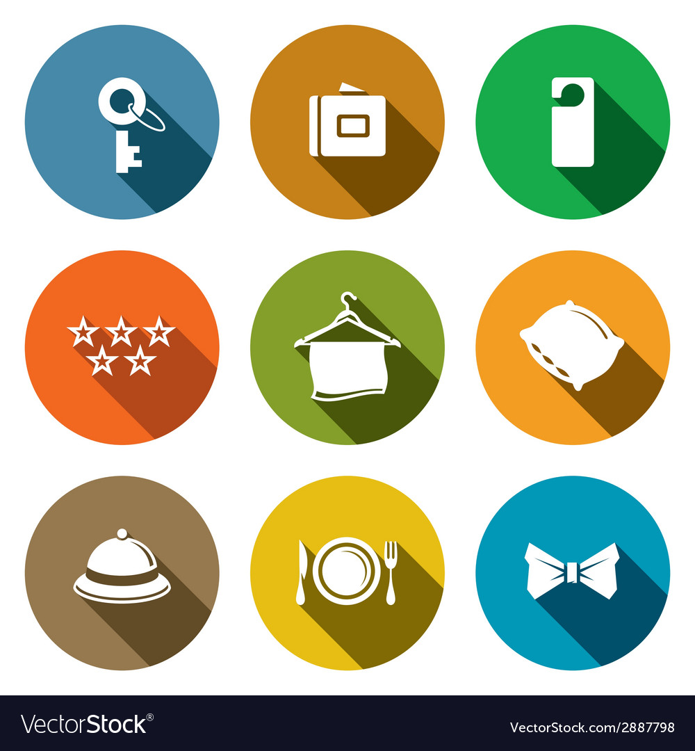 Hotel icon collection vector