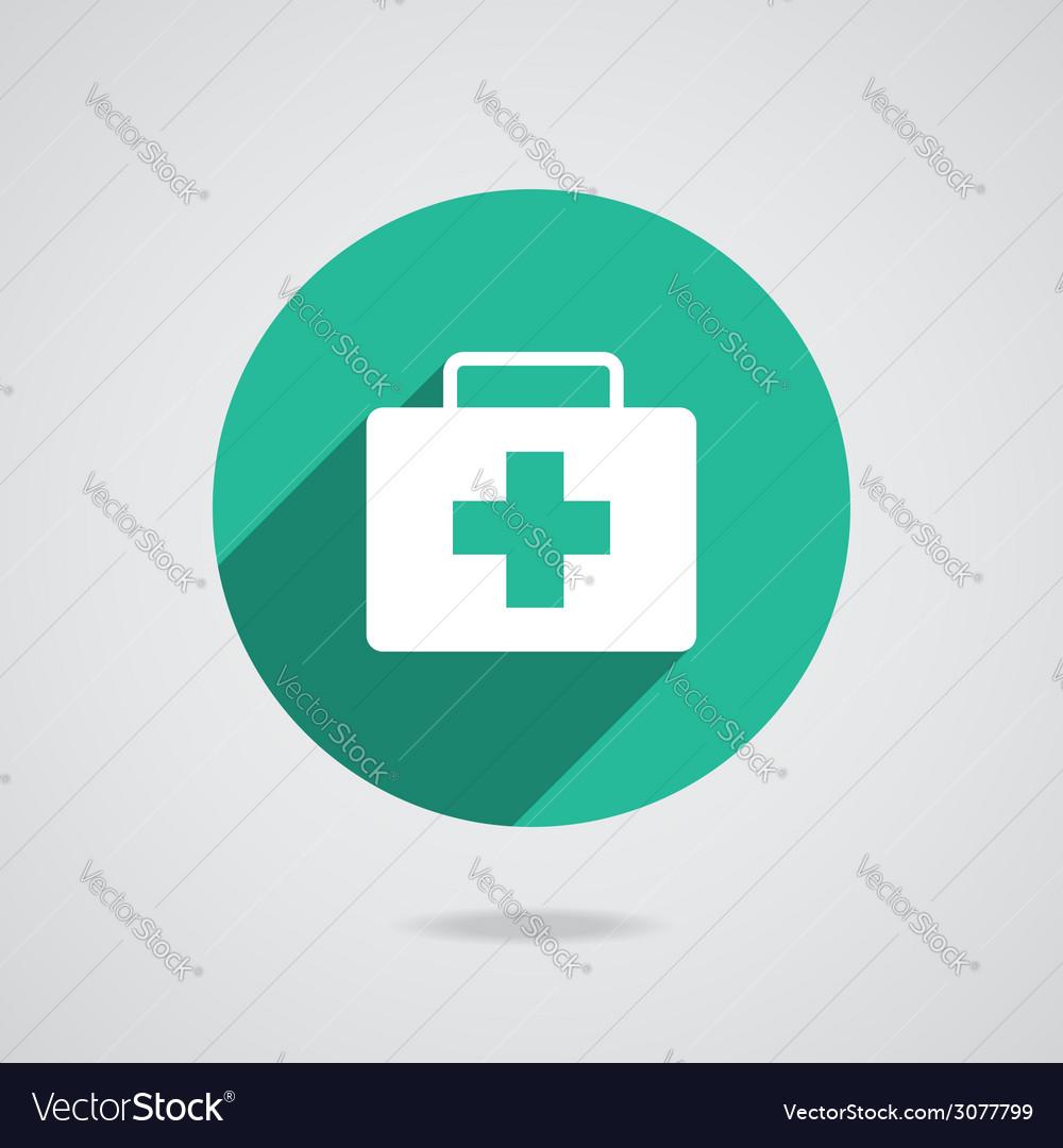 Medical white icon vector