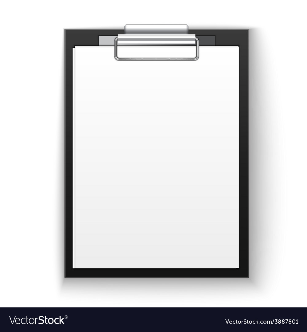 Tablet with paper vector