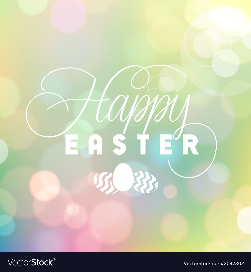 Easter colorful bokeh background vector