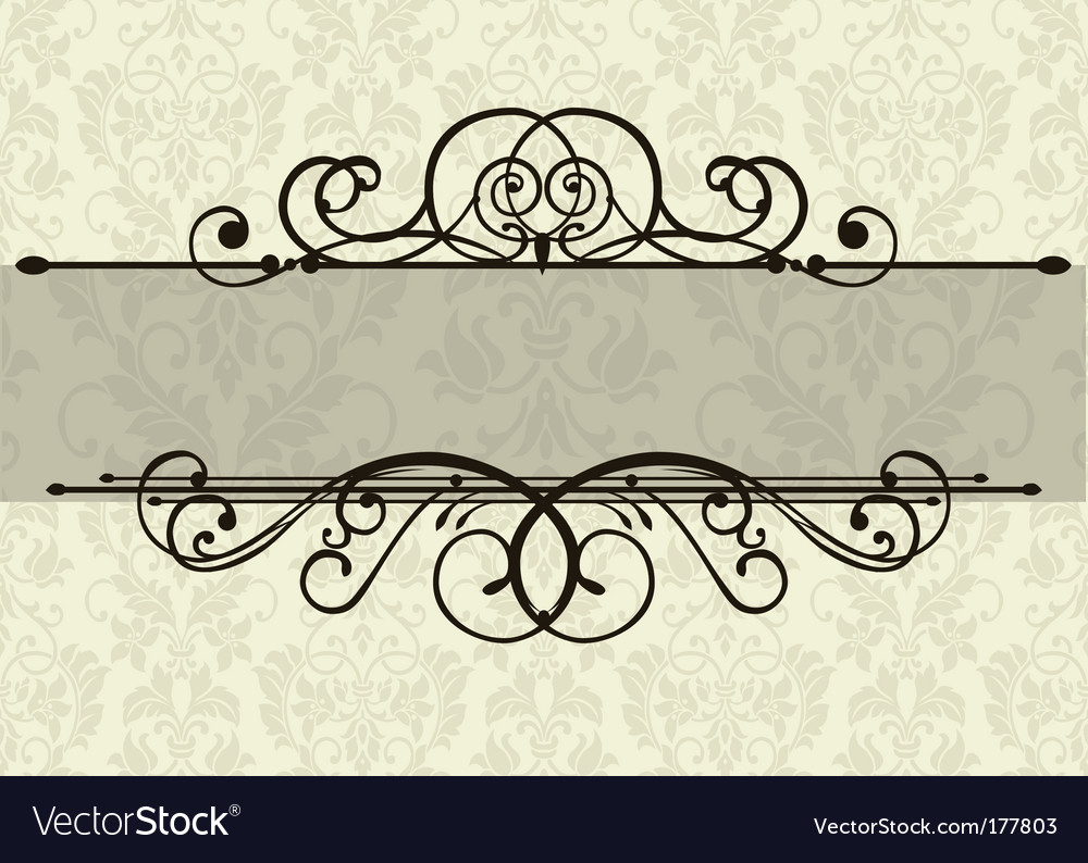 Swirl ornament and background vector