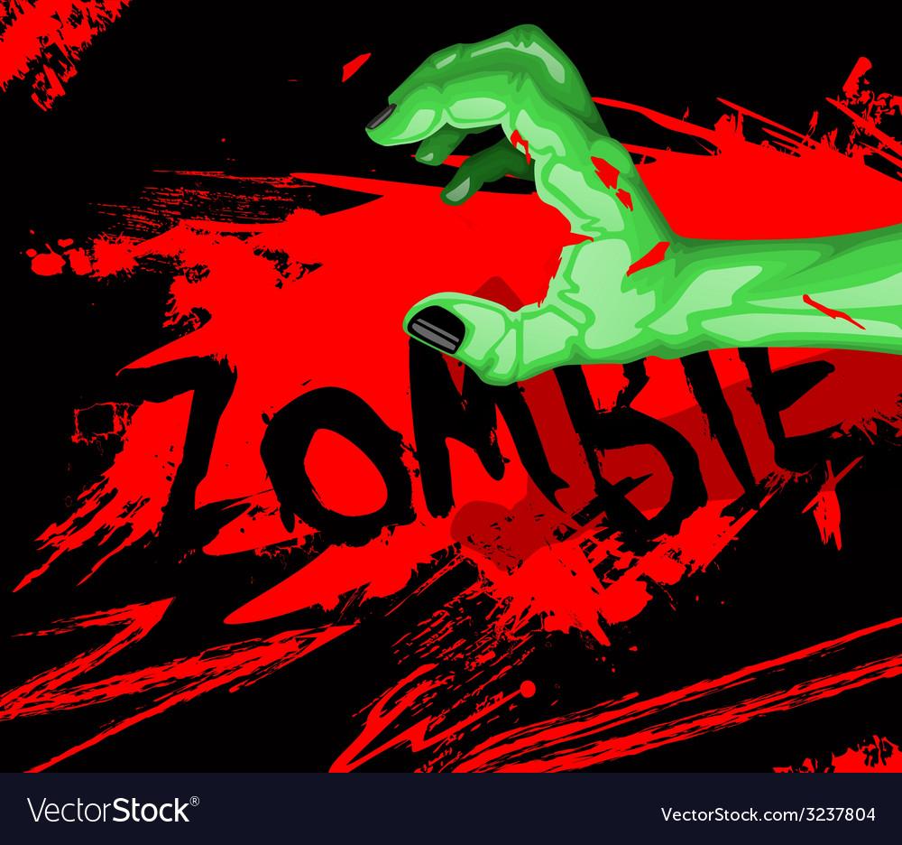 Cartoon of a zombie hand vector