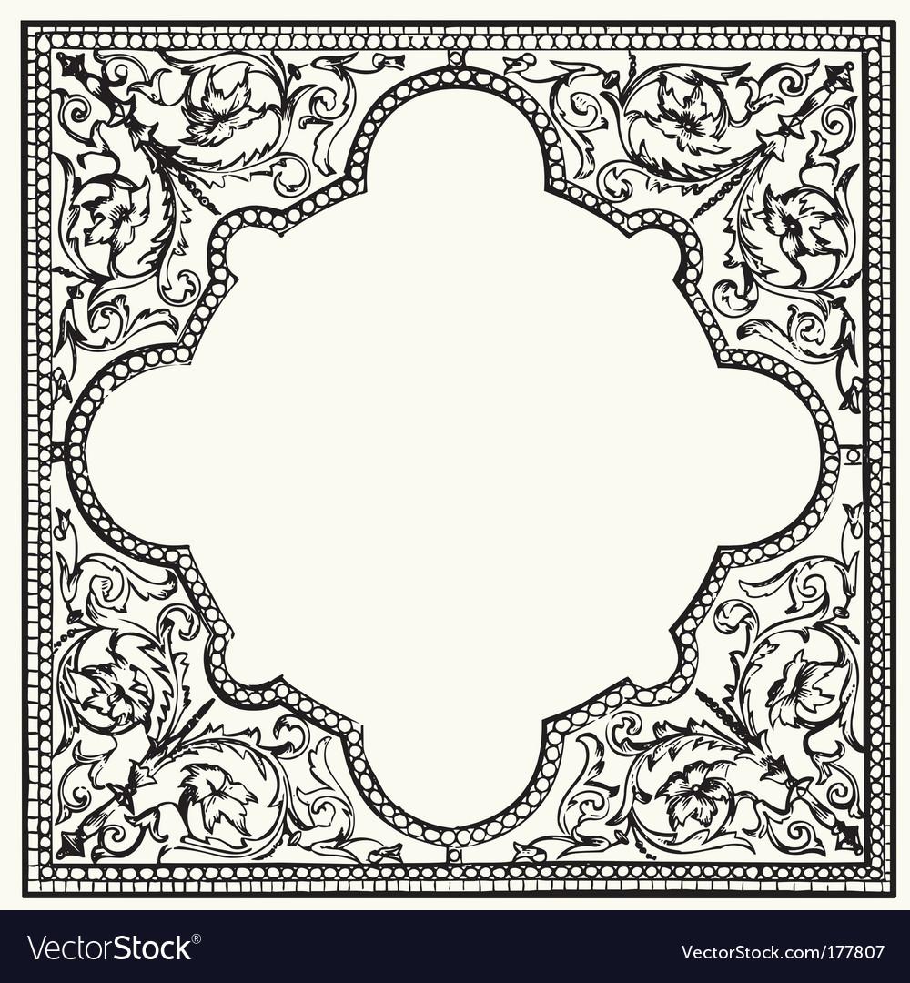 Tile ornament vector