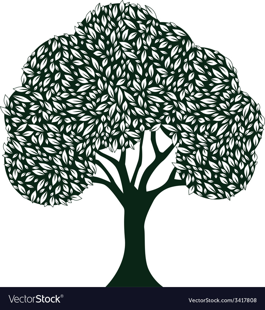 Leaf tree vector