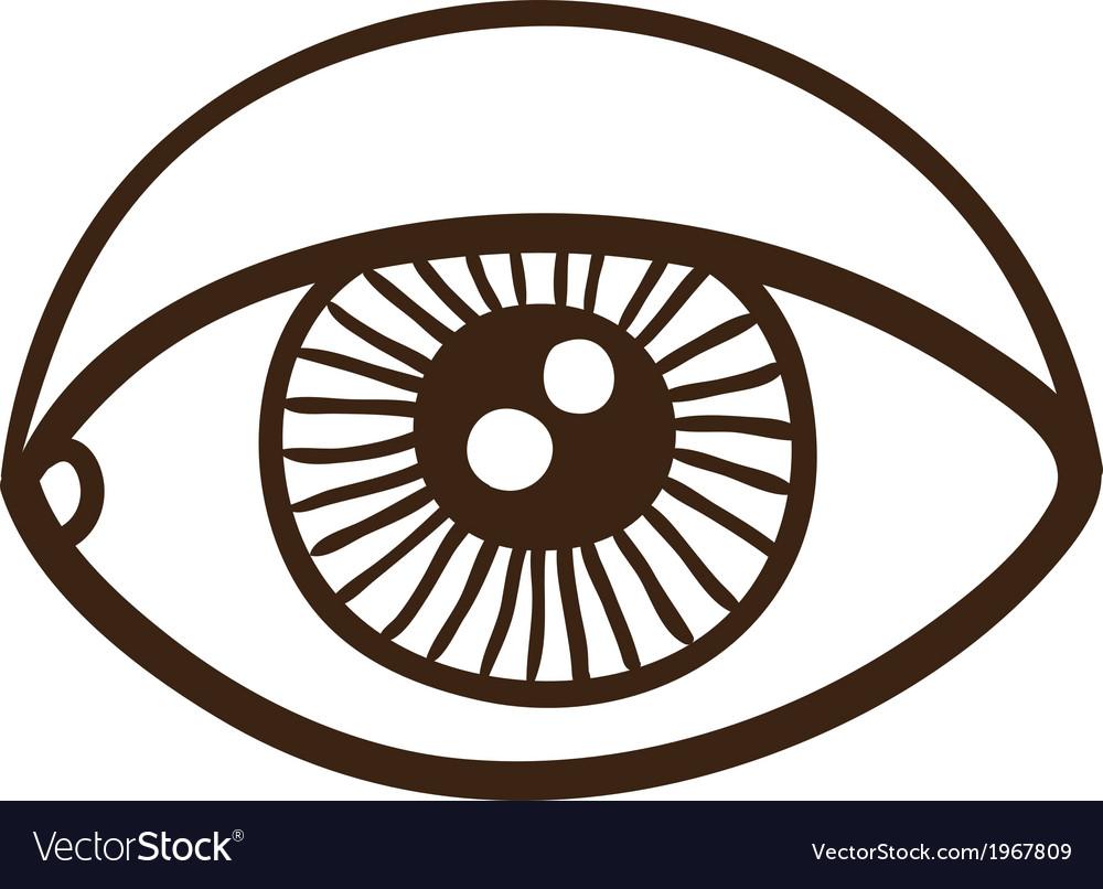 Eye rough symbol vector