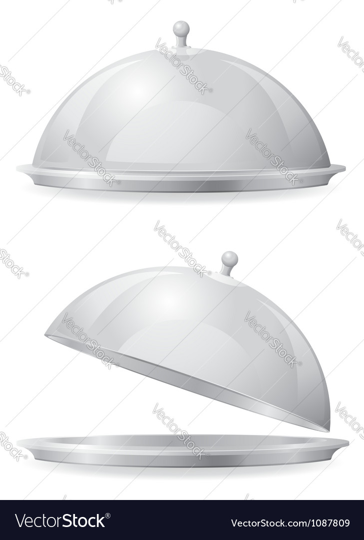 Food tray and lid vector