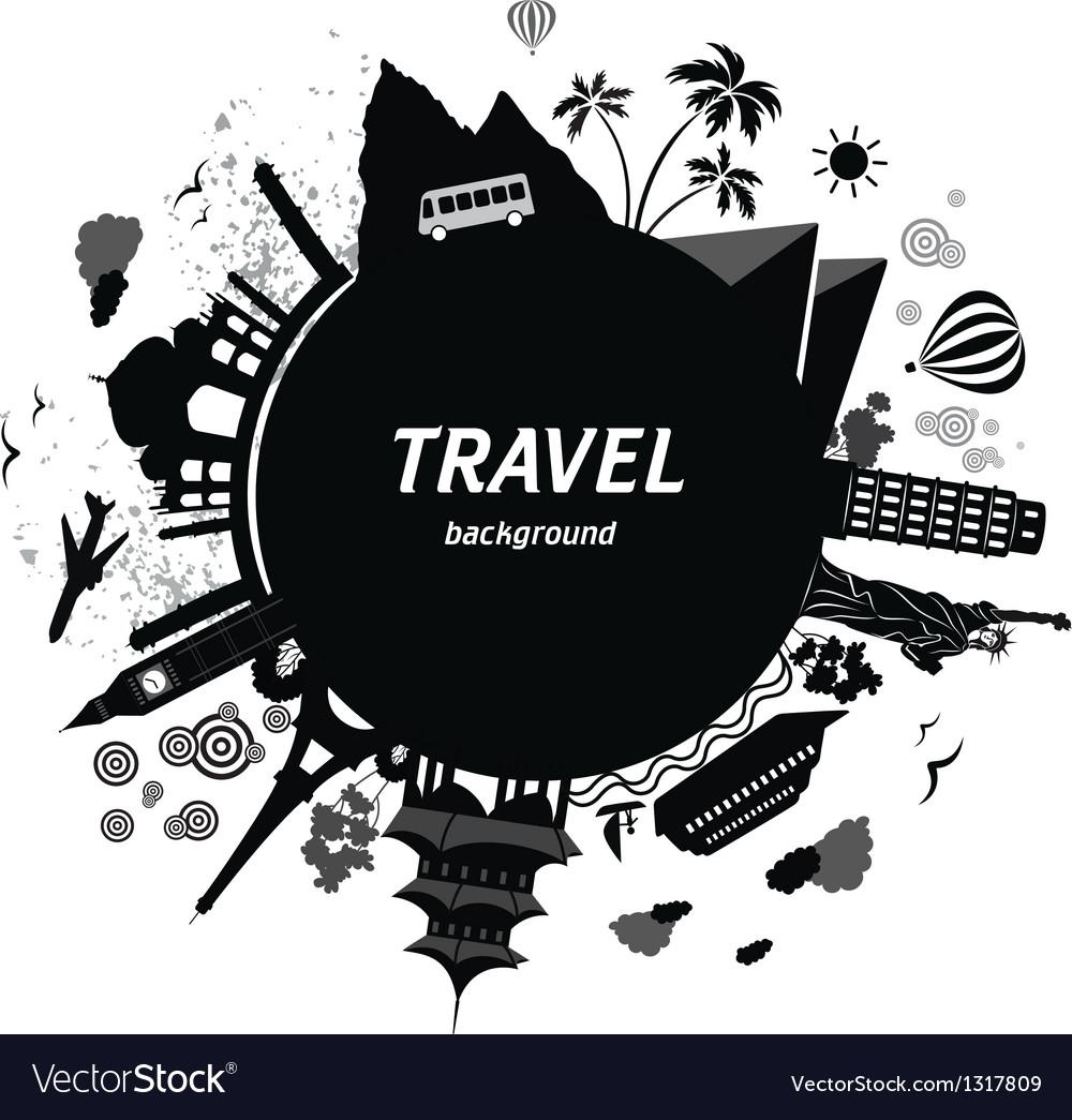 Travel background vector