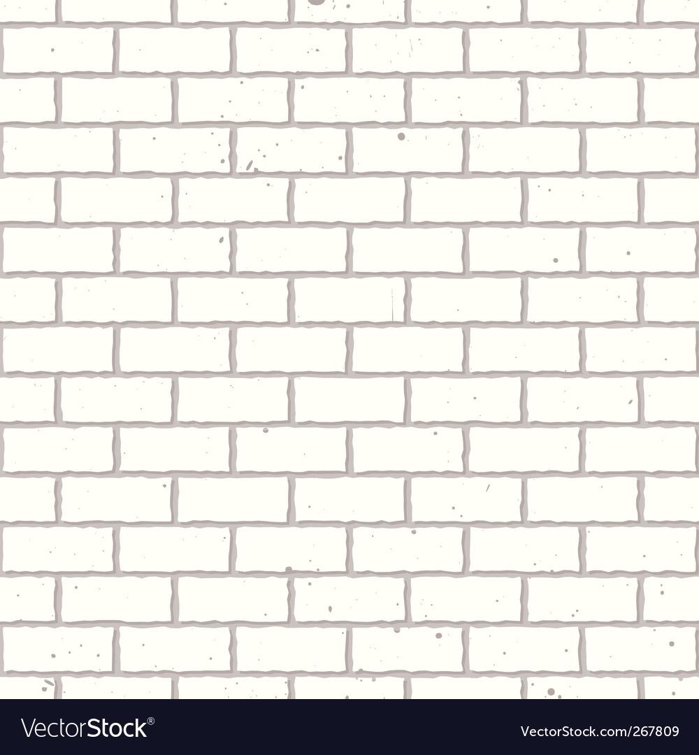 White seamless brick wall vector