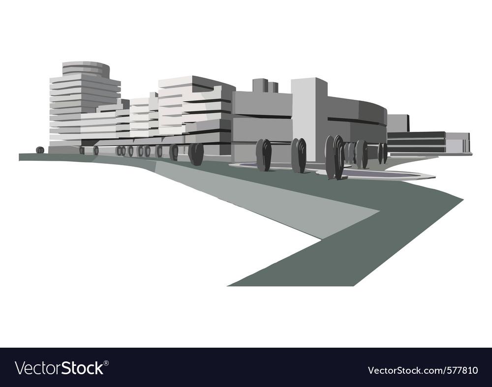 Urban waterfront vector