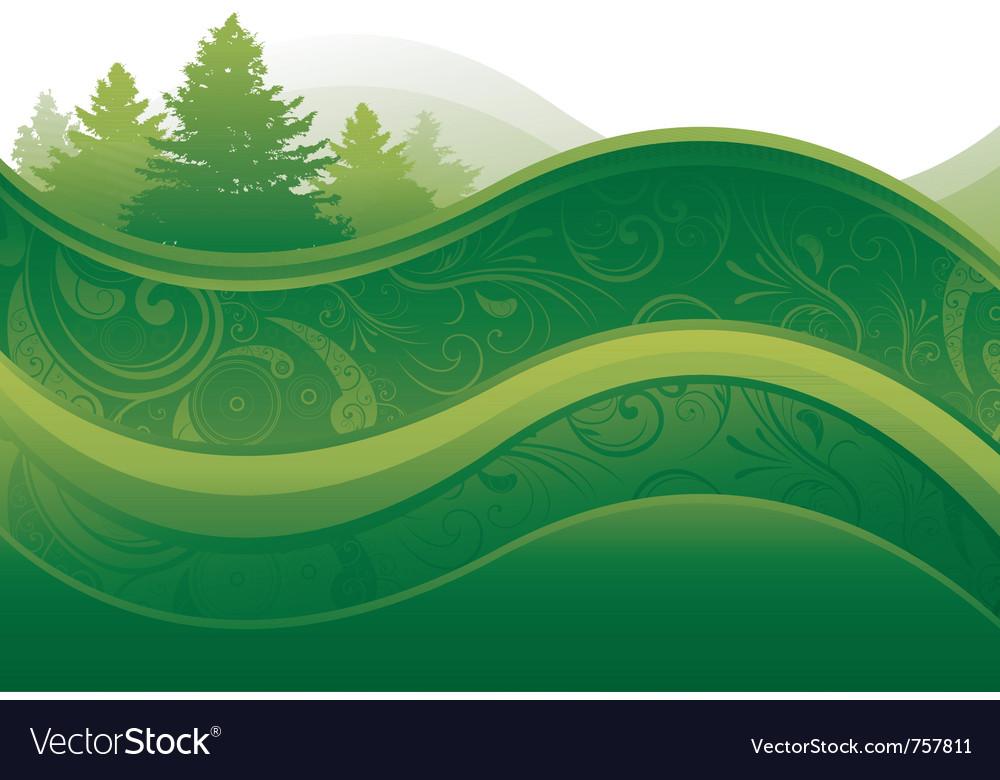 Green environment background vector