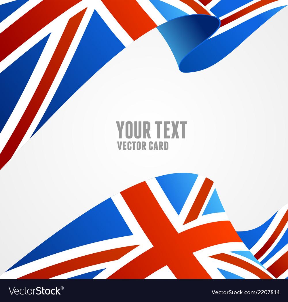 Flag of uk border vector